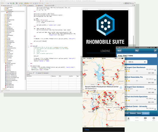 RhoMobile Suite Android IOS Project