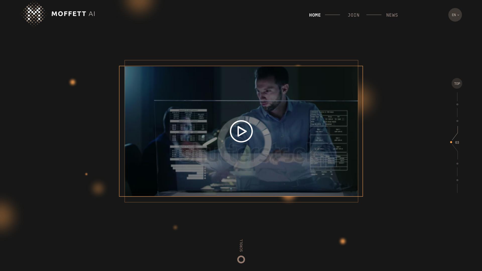 MOFFETT AI SAAS web design Project