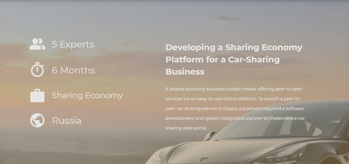 Developing a Sharing Economy Platform for a Car-Sharing Business Angular PostgreSQL Project