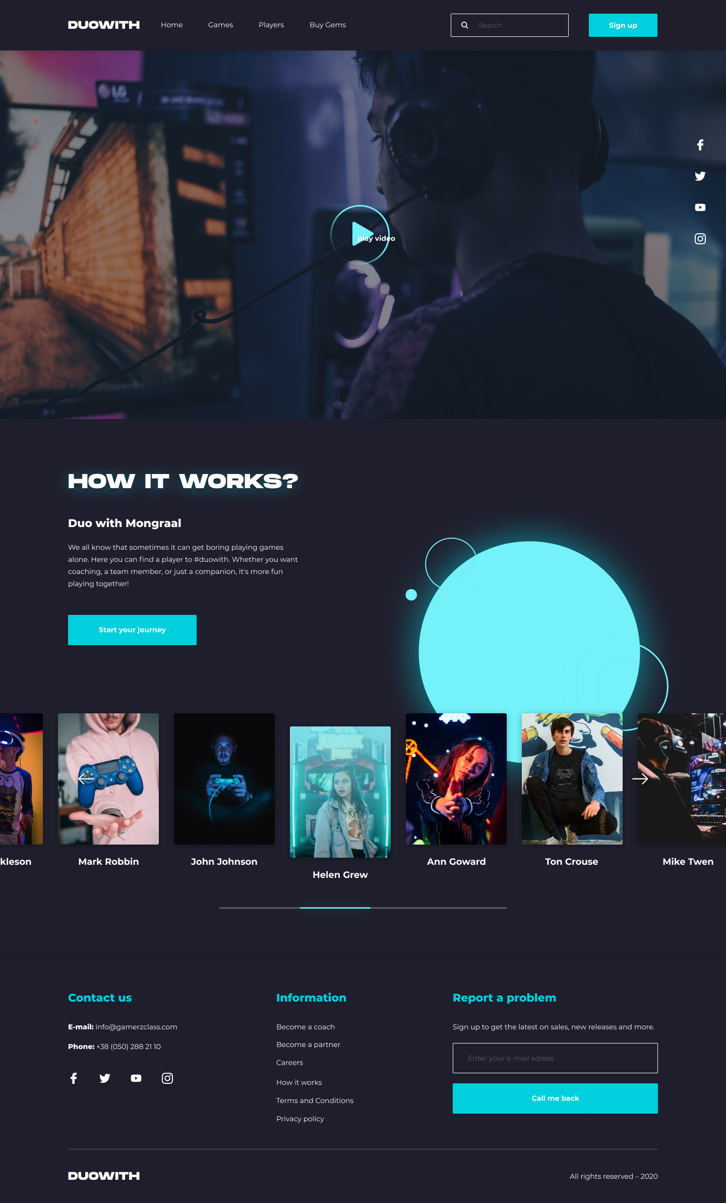 UX/UI Design NEW Game website Gaming UI/UX Design Project